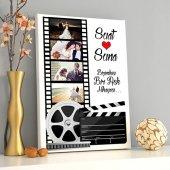 Siyah Beyaz Film Gibi Aşk Kanvas Tablo