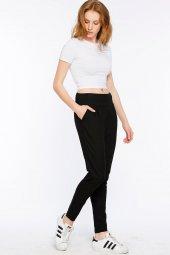 Calabria Dokuma Ve Örme Siyah Pantolon 160020 1