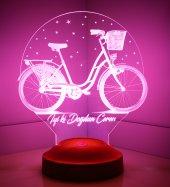3d Led Lamba 3 Boyutlu Bisiklet Kişiye Özel Hediye...