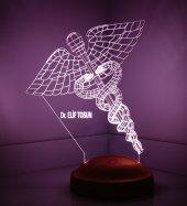 3d Led Lamba 3 Boyutlu Tıp Sembolü Kişiye Özel Hediye Gecelambası