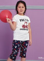 Kiraz Desen Detaylı Takım Pijama Bb 1028k