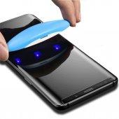 Samsung Galaxy S9 Plus Ekran Koruyucu Cam 5d Uv Likit Tam Yapışan