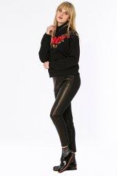 Cotonou Gül Nakışlı Siyah Sweatshirt 160151 1