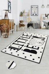 Chilai Little Bear Beyaz 100x160 Çocuk Halısı Anaokulu Kreş Halıs