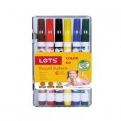 Lets Keçeli Boya Kalemi Yarım Boy 6 Renk L 7106