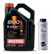 Motul 8100 X Clean Fe 5w30 4lt Motor Yağı + Liqui Moly Yağ Katkısı