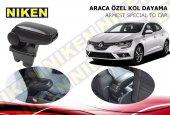 Niken Araca Özel Renault Megane 4 Vidasız Kol Dayama Kolçak Siyah 2016 Üzeri