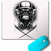 Monkey Graffıtı Maymun Grafik Mouse Pad
