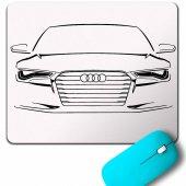 Audı Rs6 Logo Auto Car Rs Sport Quattro Race Mouse Pad