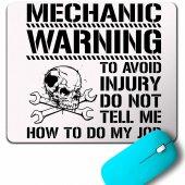 Mechanıc Warnıng Avoıd Dikkat Yaklaşma Kavga Mouse Pad