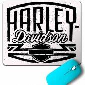 Harley Motorcycles Davidson Orange Bar Shıeld Black Mouse Pad