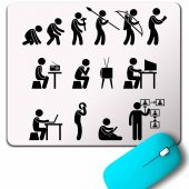 Evolution Human Evrim İnsan Maymun Gelişim Mouse Pad
