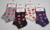 Sara Donna Çilek Kiraz Karpuz Desenli Bayan Patik Çorap 4 Adet