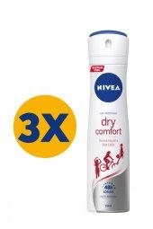 Nivea Deo Sprey Dry Comfort 150 Ml Kadın 3lü Eko Set