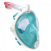 Yeni Nesil Şnorkel L Xl Beden Dalgıç Maskesi Şnorkel Turkuaz