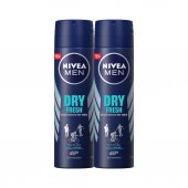 Nivea Deo Sprey Dry Fresh 150 Ml Erkek 2li Eko Set