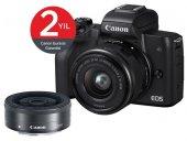 Canon Eos M50 + 15 45mm + 22mm Lens Aynasız Fotoğraf Makinası