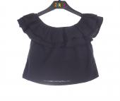 Zekids Kız Çocuk Omuz Lastikli Bluz