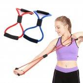 Egzersiz Spor Plates Direnç Jimnastik Pilates Spor Lastiği İpi