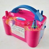 çift Çıkışlı Balon Şişirme Makinası Pembe Renkli