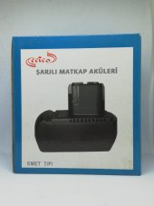 Ecico Emet 12 12 Volt 2 Amper Şarjlı Matkap Aküsü...