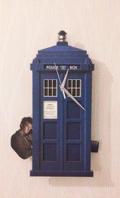 Dr. Who Sallanır Sarkaçlı Duvar Saati