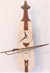 Kemençe Sallanır Sarkaçlı Duvar Saati