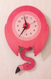 Flamingo Sallanır Sarkaçlı Duvar Saati