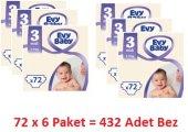Evy Baby Bebek Bezi Midi 3 Beden Dev Fırsat Paketi...