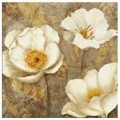 çiçek Modern Kare Yağlı Boya Reprodüksiyon Tablolar 80 Cm X 80 Cm