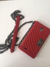 Samsung Galaxy S4 Askılı Çanta Telefon Kılıfı Kırmızı