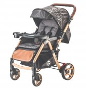 Baby Care Bc 50 Maxi Çift Yönlü Lüks Bebek Arabası Gold Siyah