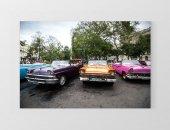 Renkli Klasik Arabalar Tablosu