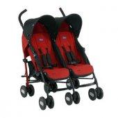 Chicco Echo İkiz Bebek Arabası Kırmızı
