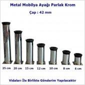 Mobilya Ayağı Metal Alttan Ayarlı 42 Mm Krom Ayak 1.kalite