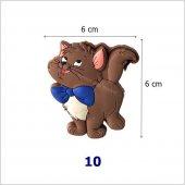 çocuk Odası Dolap Kulp Tek Vidalı Düğme Kahve Kedi No 10