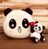Sevgi Dolu Sevimli Panda Biblo Ve Pofuduk Panda Yastık Hediye Seti