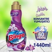 Bingo Soft Konsantre Çamaşır Yumuşatıcısı Mor Çiçekler 1440 Ml
