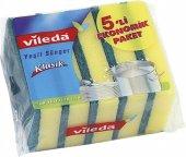 Vileda Bulaşık Süngeri Düz 5li + Ücretsiz Kargo