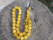Ukrayna Kaya Damla Kehribar Tesbih Küre Kesim 9 Mm 14 Mm 925 Ayar Gümüş Püsküllü Günlük Çekim İçin Uygun S00725