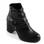 Armoni Siyah Günlük Bayan Cilt Bot Ayakkabı