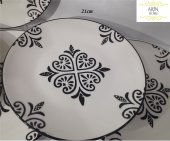 Acar 21cm El Dekor 6&#039 Lı Seramik Pasta Tabağı
