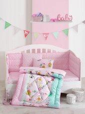 Cottonbox Ranforce Bebek Uyku Seti Kuşbahçesi Lila...