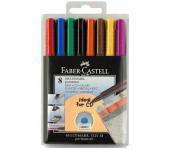 Faber Castell 1525 Cd Asetat Kalemi Seti 8 Renk (M)