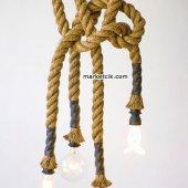 2cm Dekoratif Örgülü Jut Hasır Halat, 1 Metre Kablosuz