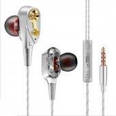 Tebaurry R8 Çift Hoparlörlü Kablolu Mikrofonlu Kulaklık Beyaz