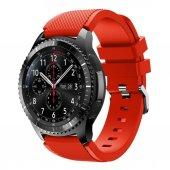 Samsung Gear S3 Frontier Ve Classic Silikon Kordon Kırmızı
