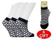 Babit Bayan Taşlı File Soket Çorap 6 Çift