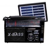 Radyo Solar Sistem Güneş Enerjili Bluetoothlu Mega 350 Fm Radyo