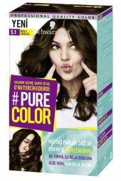 Schwarzkopf Pure Color Jel Saç Boyası 5.1 Buzlu Çikolata